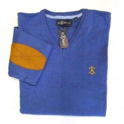 Jersey Cuello Pico Azulón