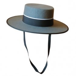 Sombrero Cañero de 1ª Calidad Gris Ref. 05720031
