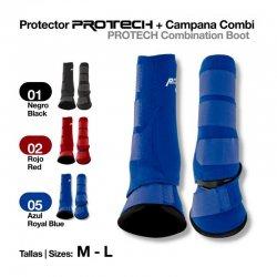 Protector Protech + Campana Combi Azul Royal Zaldi