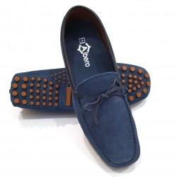 Mocasín Serraje Lazo Azul Jeans