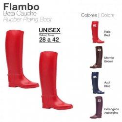 Bota de Caucho Flambo Color Rojo