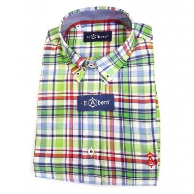 Camisa Cro Cuadros Verde