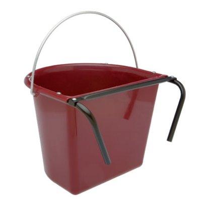 Comedero Vplast Puerta Plastico Redondo Con Asa Rojo