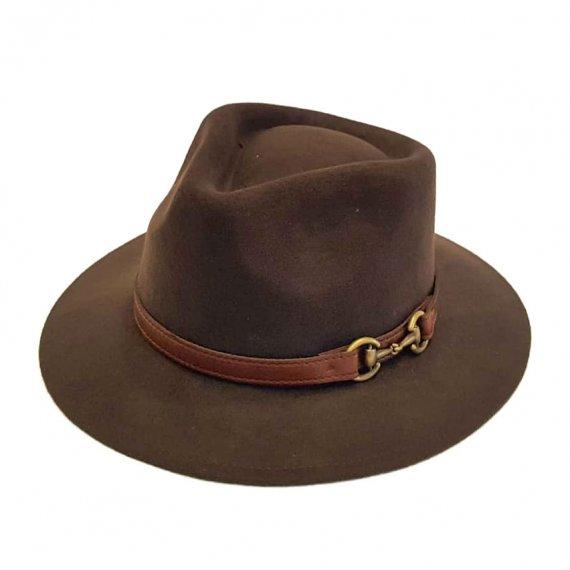 Sombrero Indiana Impermeable Marrón
