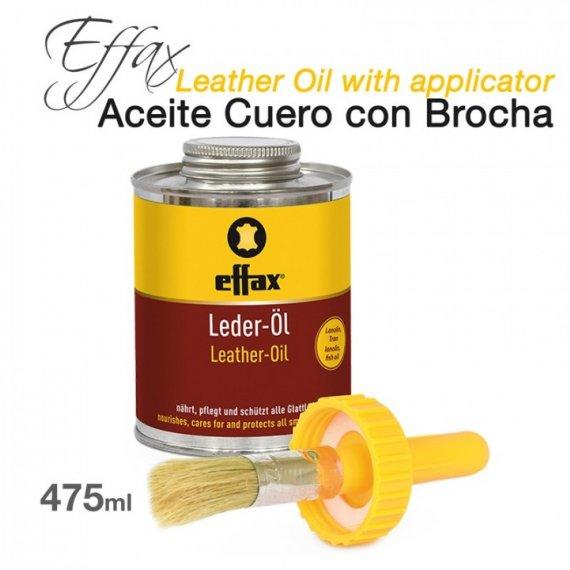 Effax Aceite Cuero Lederol con Brocha 475ml