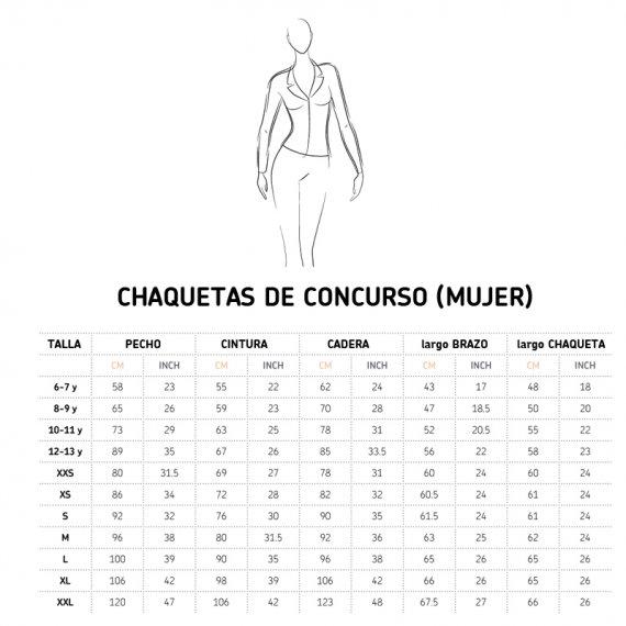 tabla medidas chaqueta Cavalliera