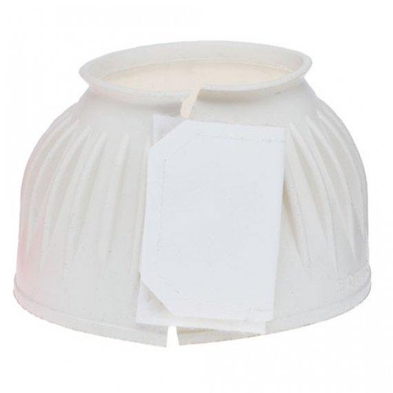 Campana Abierta de Goma con Velcro Blanco