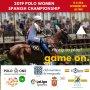 Cartel del Campeonato Nacional de Polo Femenino 2019